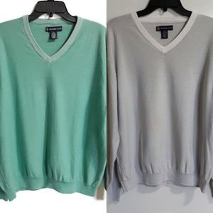 Two Oxford Golf long sleeve cotton sweaters sz XL